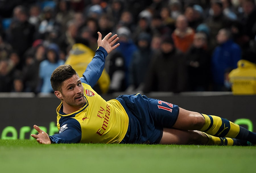 Olivier Giroud on grass