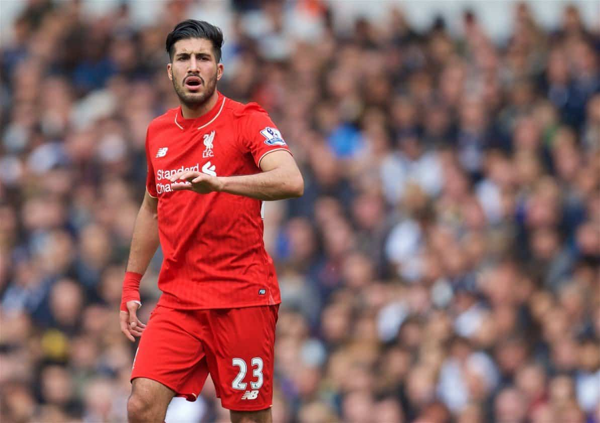 Emre Can picked up an injury