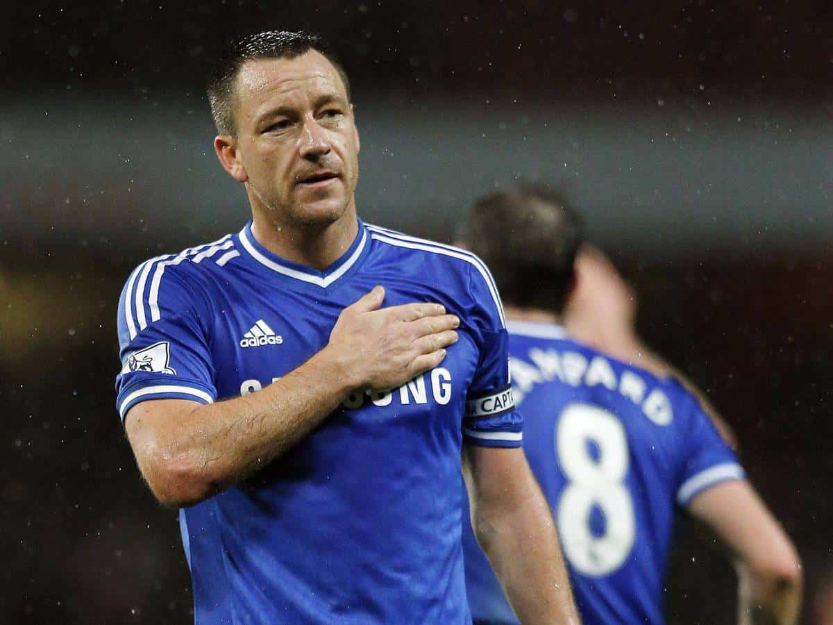 John Terry congratulates the Foxes and former Blues' boss