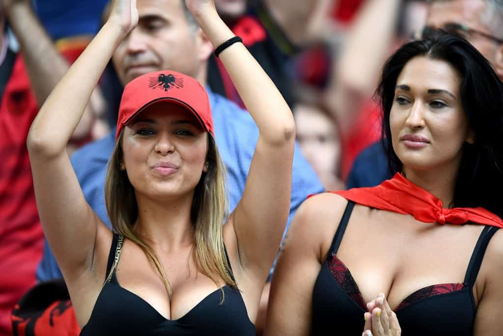 France Albania fans at the stands Hottest fans of Euro 2016