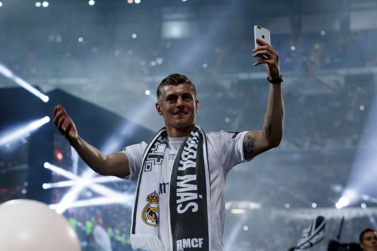 real madrid winner of champions league uefa toni kroos celebration