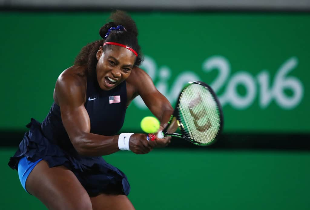 Serena+Williams+Tennis+Olympics+Day+3