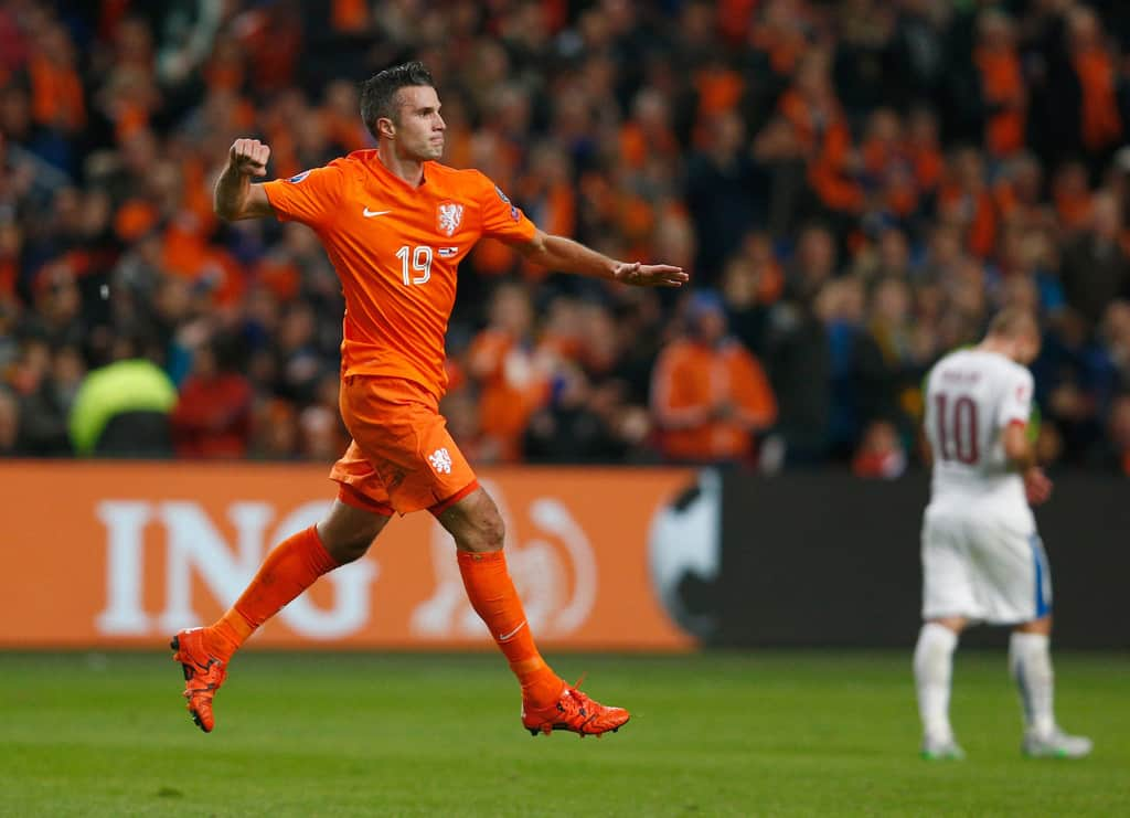 """Former Arsenal and Man United striker Robin van Persie dropped a hint he could return to the Premier League, but conceded his children will have a """"big say""""."""