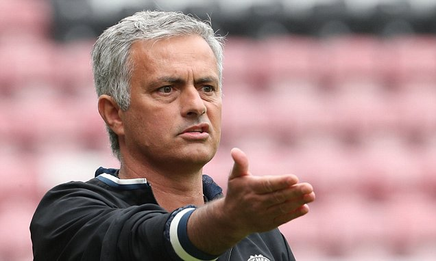 Manchester United head coach Jose Mourinho is unhappy with Luke Shaw's performance against W