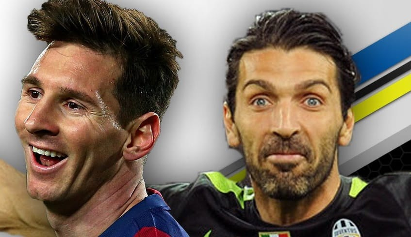 Lionel Messi and Gianluigi Buffon