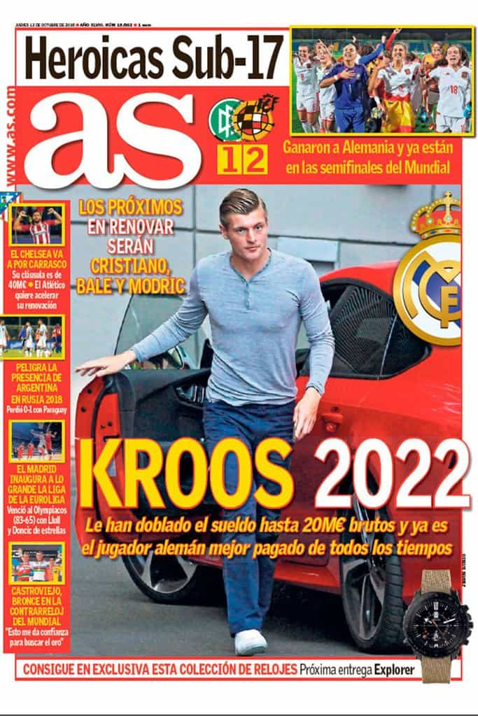 "Toni Kroos sealed his Real Madrid stay yesterday and Spain's AS says Luka Modric, Gareth Bale and Cristiano Ronaldo will be ""the next to renew"" their contracts at the Bernabeu. Reports elsewhere in the Spanish media are also tipping Pepe to sign a new one-year deal that will keep him at the club until June 2018."