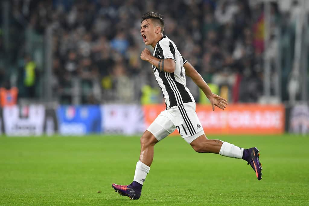 paulo dybala after scoring free kick against udinese