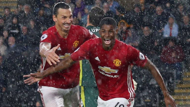 Marcus Rashford believes Manchester United's young players can learn a lot from Zlatan Ibrahimovic's winning mentality.