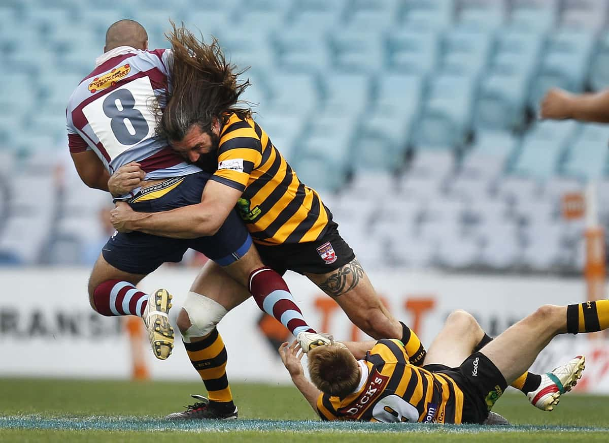 exquisite design brand new new styles French lock Chabal tackles Petersham's Fonua while playing a ...