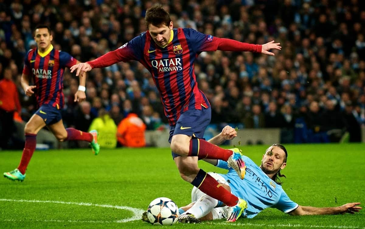 Leo messi barcelona manchester city