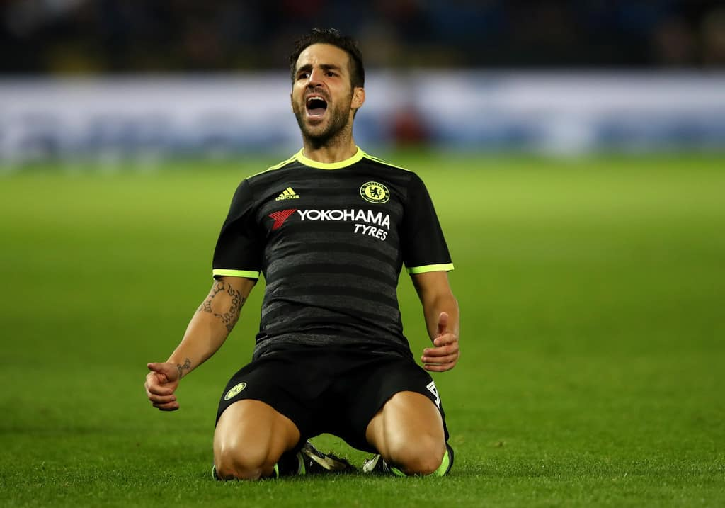 Chelsea Fabregas away kit