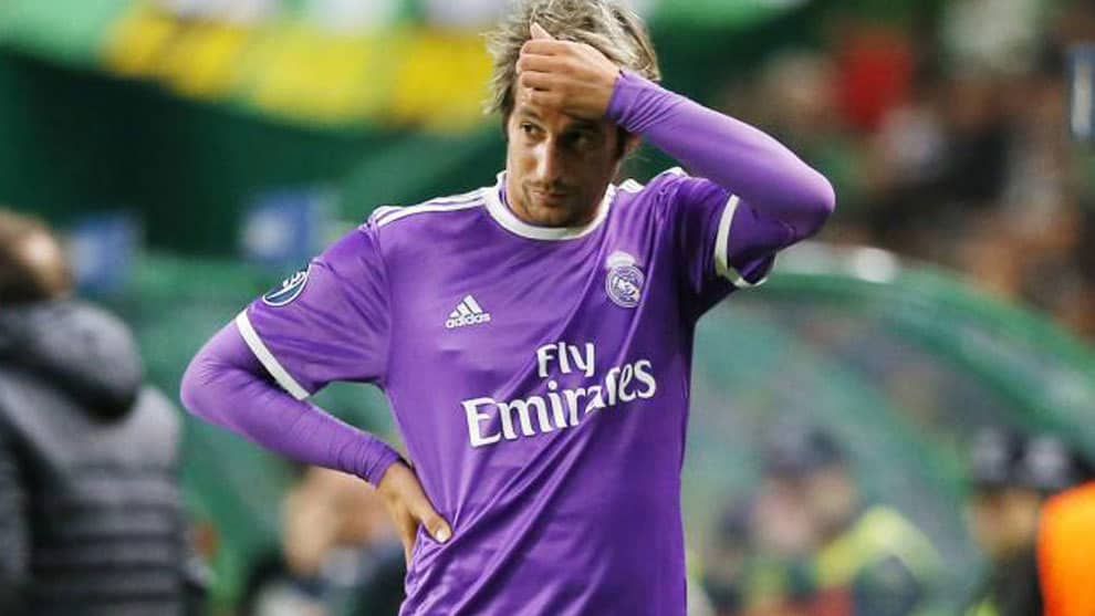 Real Madrid defender Fabio Coentrao came on late to replace Marcelo in the Champions League group stage game against Sporting.