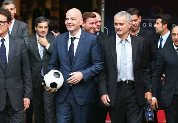 Infantino: Football needs Mourinho mankind