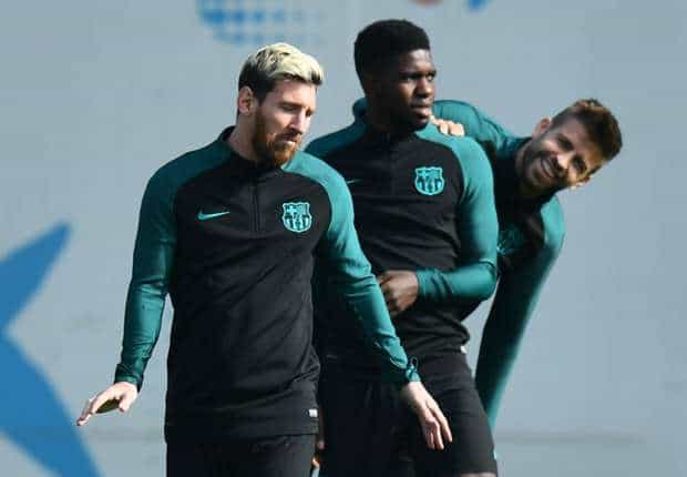 Messi and Umtiti