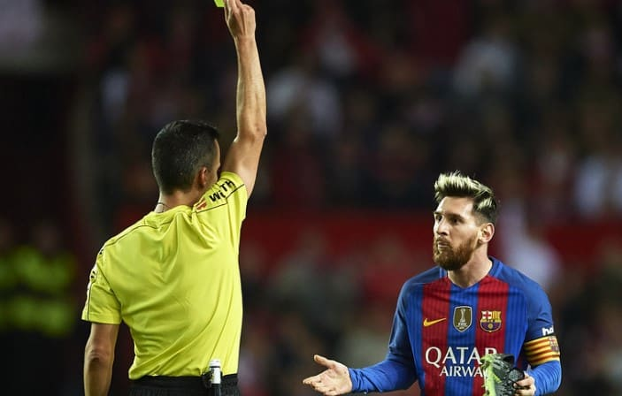 messi yellow card appeal rejected