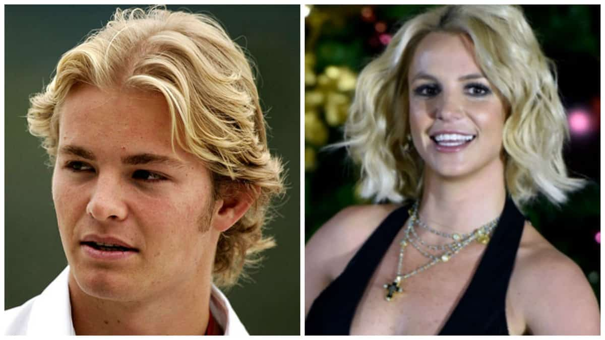 Nico Rosberg and Britney Spiers