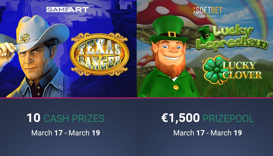 On St  Patrick's Day, double promotion in slot games