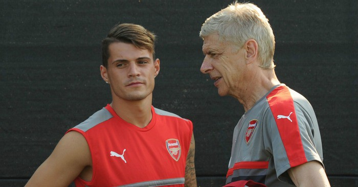 xhaka and wenger