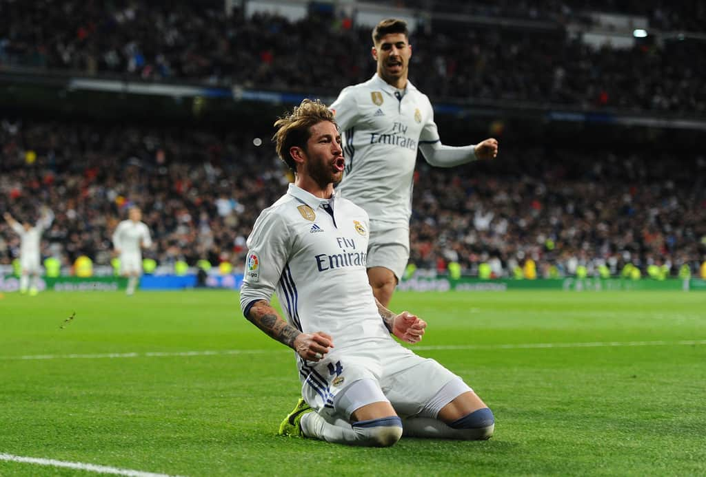 Real Madrid defender Sergio Ramos is keeping on the pace of scoring important goals and bringing more and more points to the team