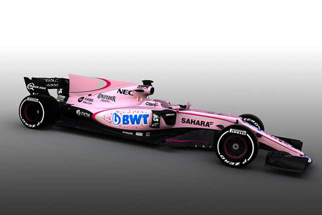 Pink bolid Force India