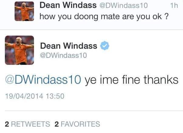 windass hilarious tweet