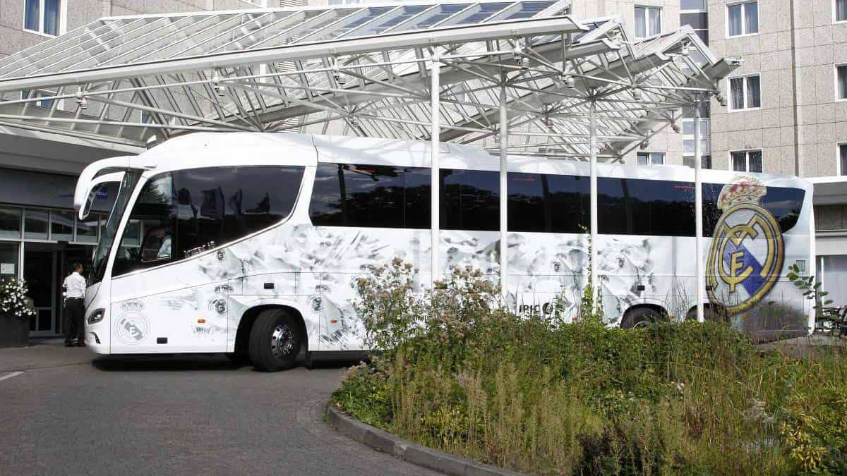 real madrid bus to change route
