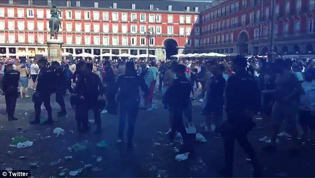 Leicester fans arrested in madrid