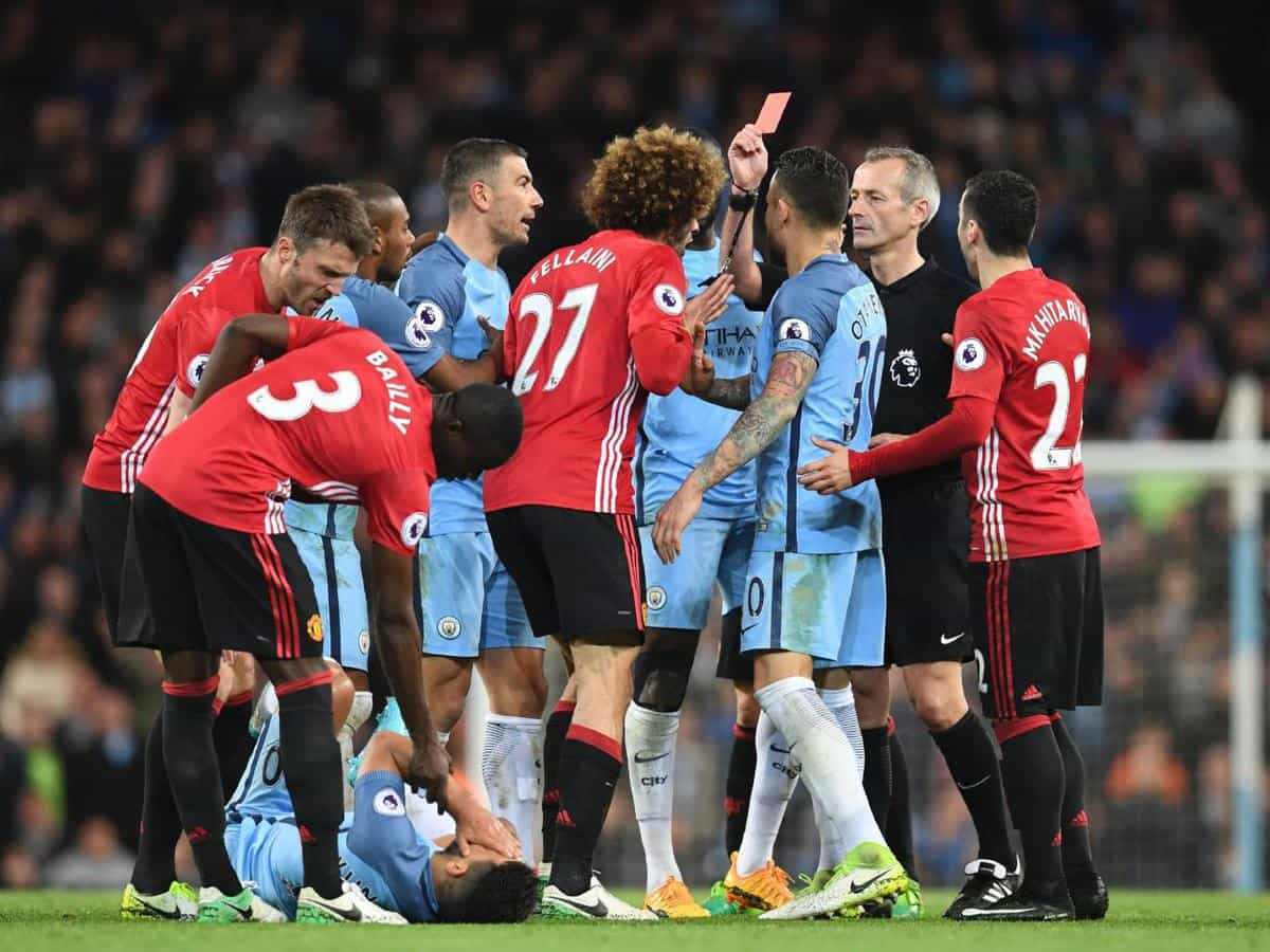 fellaini receives three-match ban for red card in manchester derby