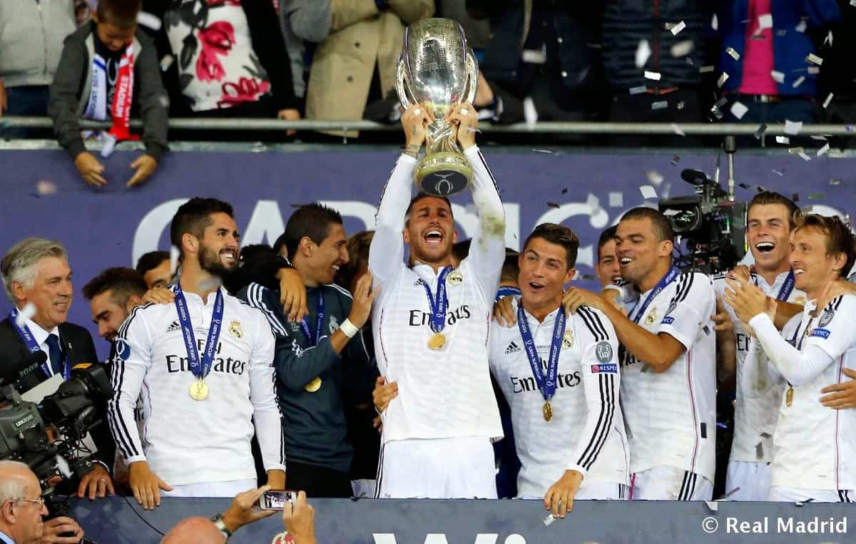 Real Madrid celebrated the European Super Cup