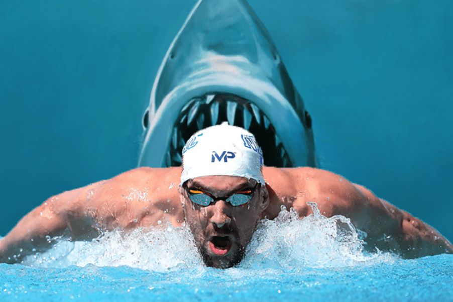 Phelps shark week