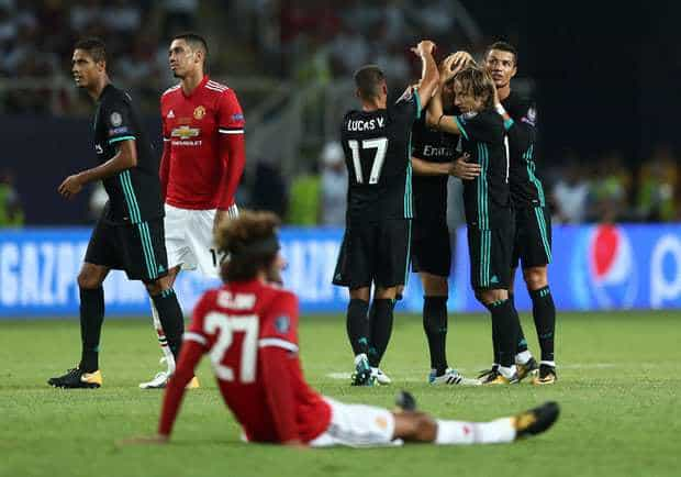 Real Madrid land the UEFA Super Cup with a 2-1 win over Man United