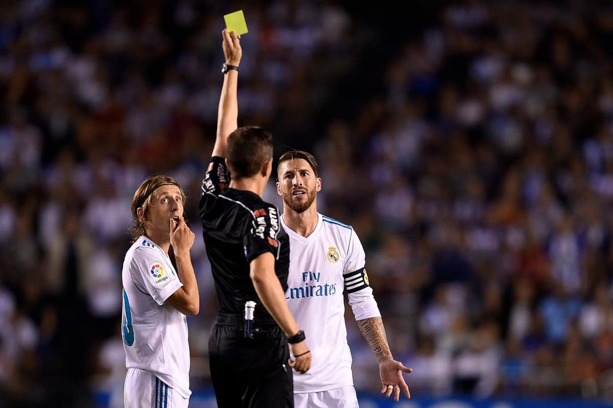 Ramos equals all time red card record in La Liga