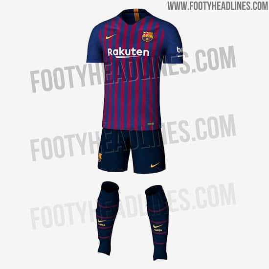 new product d6561 8be48 FC Barcelona 2018/19 Home Kit Leaked (PHOTO) - Vbet News