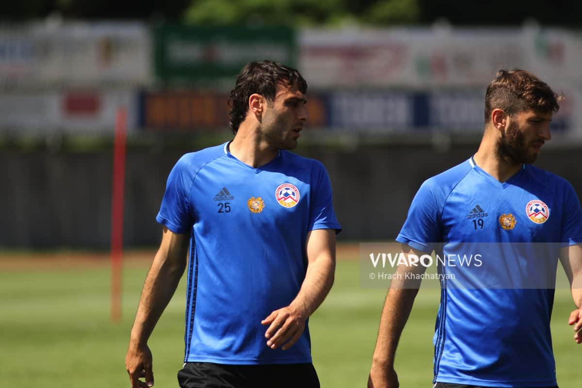 2Z7A1056 - Exclusive: Henrikh Mkhitaryan had training with his teammates from national team in Hall in Tirol (Video by Vivaro News)