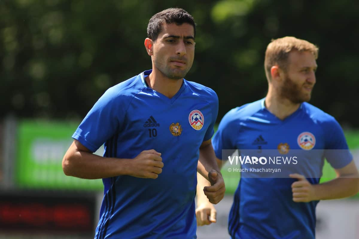 2Z7A1098 - Exclusive: Henrikh Mkhitaryan had training with his teammates from national team in Hall in Tirol (Video by Vivaro News)