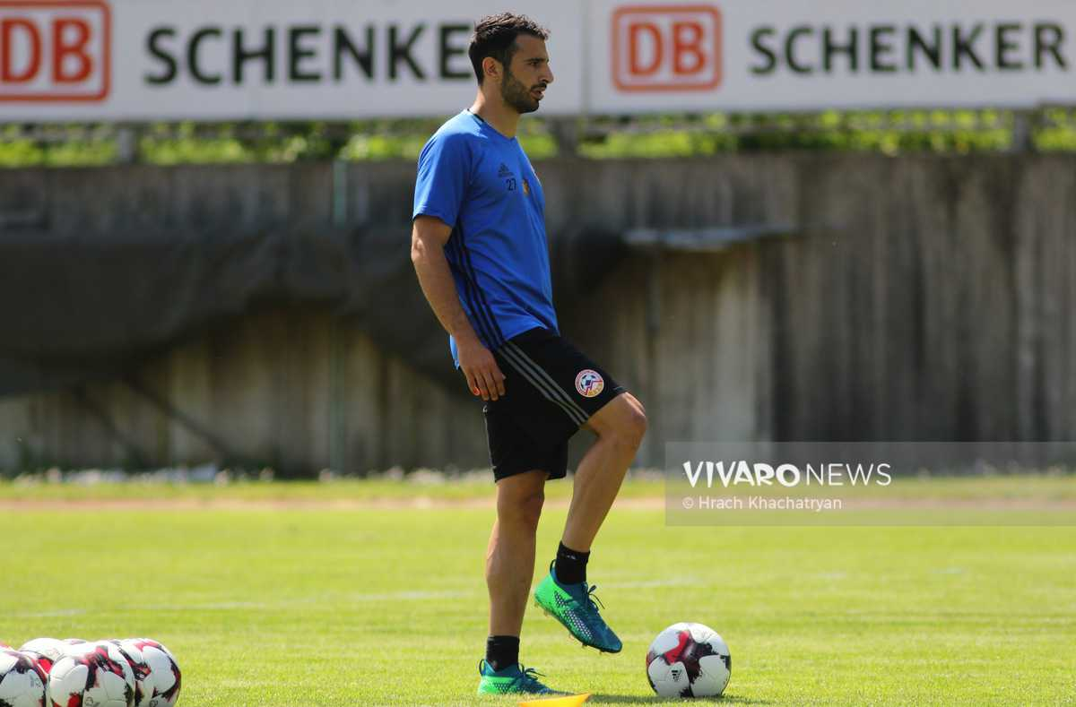 2Z7A1116 - Exclusive: Henrikh Mkhitaryan had training with his teammates from national team in Hall in Tirol (Video by Vivaro News)