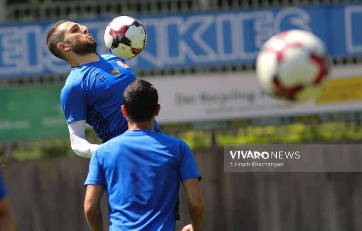 2Z7A1153 - Exclusive: Henrikh Mkhitaryan had training with his teammates from national team in Hall in Tirol (Video by Vivaro News)