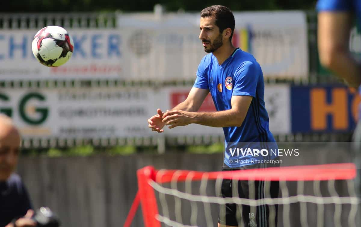 2Z7A1163 - Exclusive: Henrikh Mkhitaryan had training with his teammates from national team in Hall in Tirol (Video by Vivaro News)