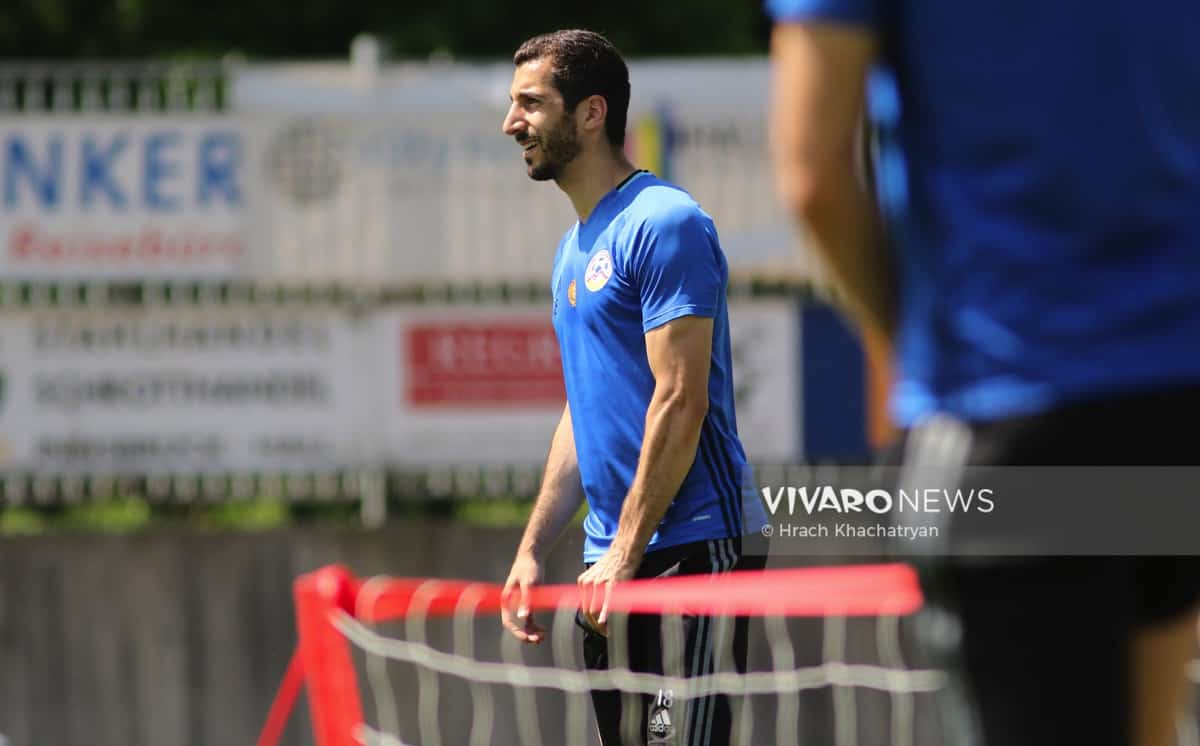 2Z7A1165 - Exclusive: Henrikh Mkhitaryan had training with his teammates from national team in Hall in Tirol (Video by Vivaro News)