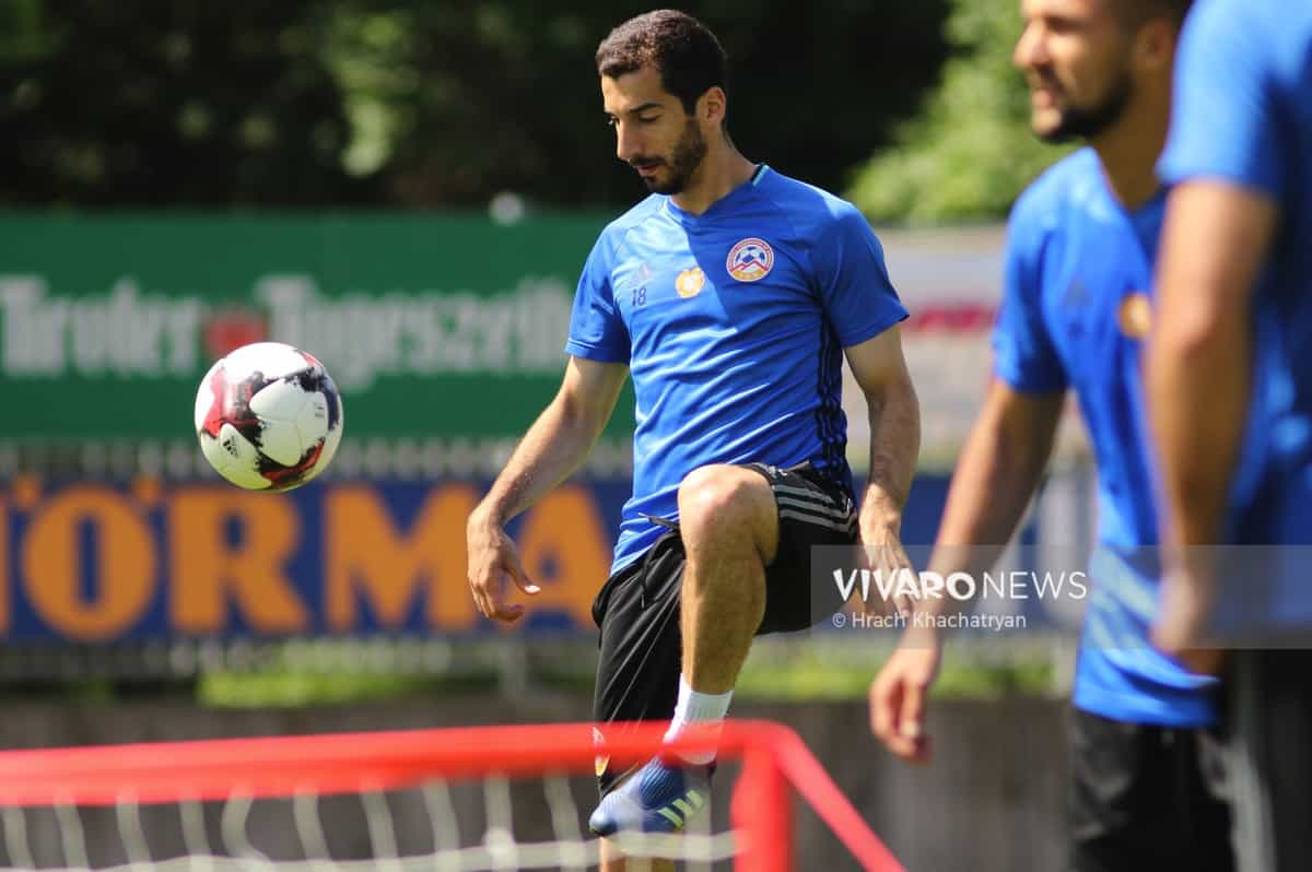 2Z7A1166 - Exclusive: Henrikh Mkhitaryan had training with his teammates from national team in Hall in Tirol (Video by Vivaro News)