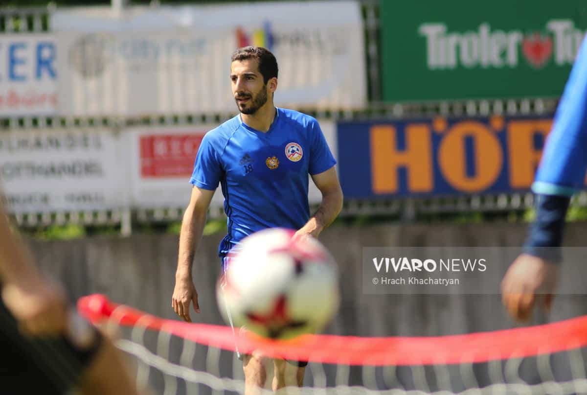 2Z7A1177 - Exclusive: Henrikh Mkhitaryan had training with his teammates from national team in Hall in Tirol (Video by Vivaro News)