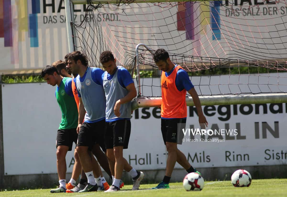 2Z7A1182 - Exclusive: Henrikh Mkhitaryan had training with his teammates from national team in Hall in Tirol (Video by Vivaro News)