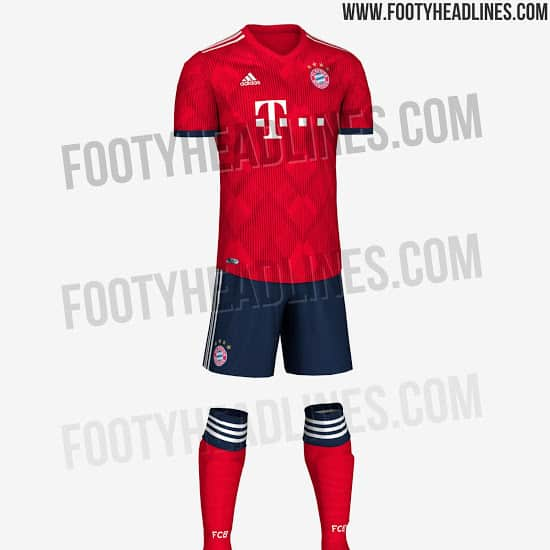 newest d0533 05010 OFFICIAL pictures. Bayern Munich 2018-2019 home kit revealed ...