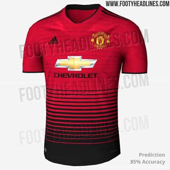 differently 20b24 6d158 Manchester United 18-19 Home, Away and Third Kits' release ...