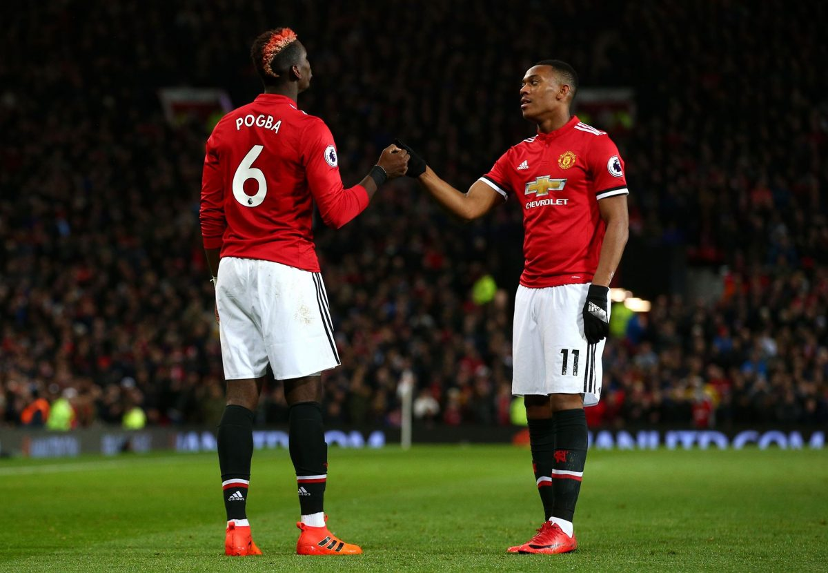Image result for martial with pogba