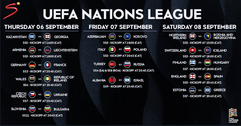 Uefa Nations League Opening Fixtures Feature Two Blockbuster Match Ups