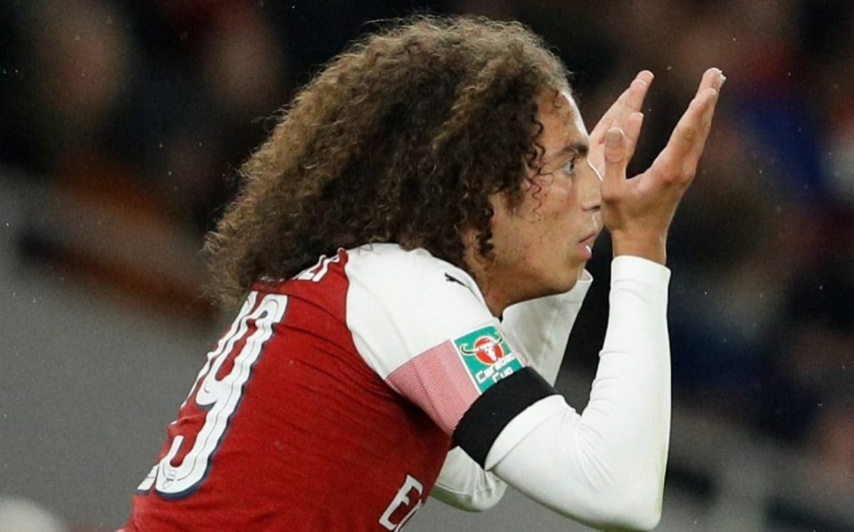 5714de29b Matteo Guendouzi will miss Arsenal s match against Liverpool this weekend  after being sent off against Balckpool in the Carabao Cup.