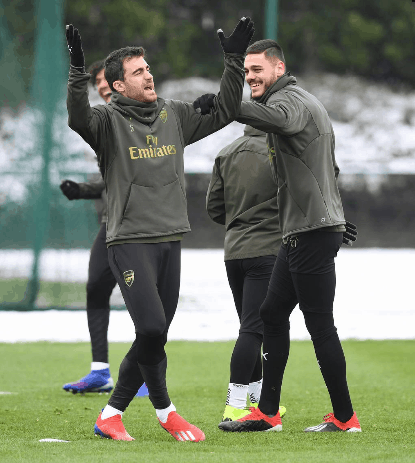 Arsenal Training 11