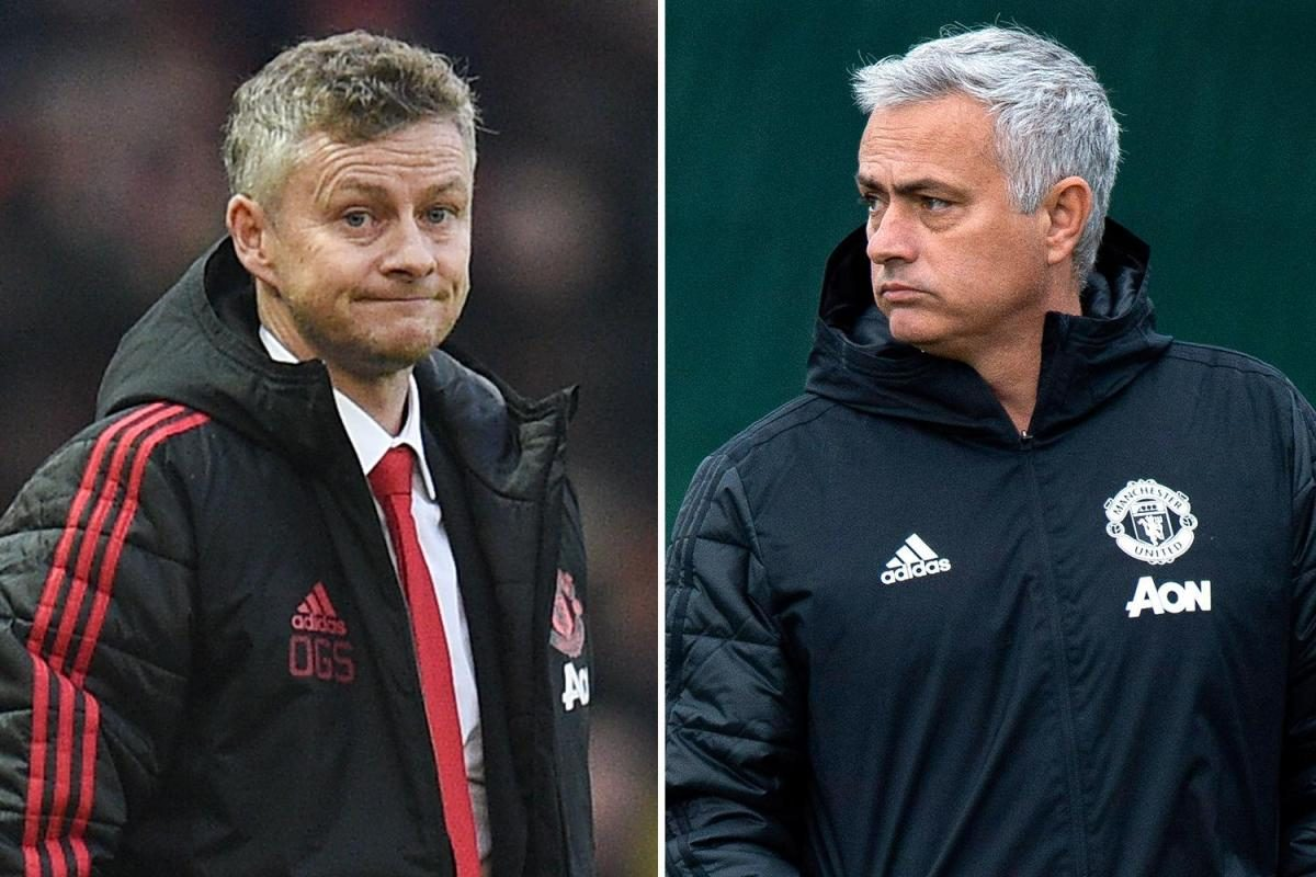 Image result for jose mourinho and ole gunnar solskjaer