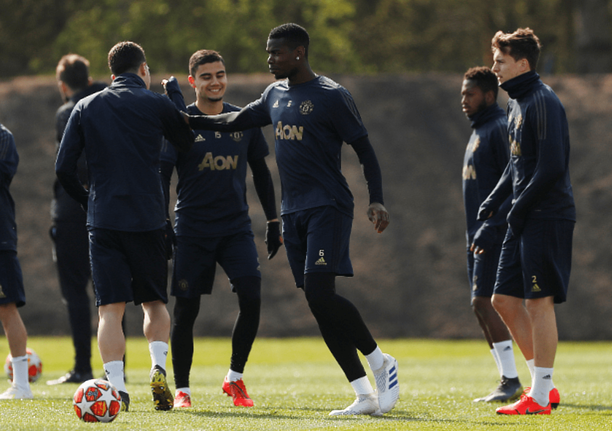 fce05cb1822 Four Manchester United stars miss training ahead of Barcelona clash ...